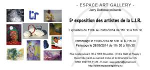 Invitation collectif d'artistes de la LIR