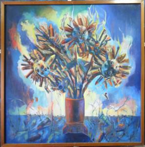 Photo des fleurs pour la paix pax_2x2ft mixed media RPYAP