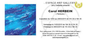 Invitation Carol HERBEIN