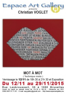 Affiche Christian VOGLET