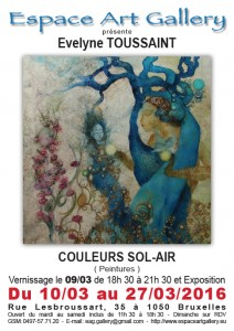 Affiche Evelyne TOUSSAINT