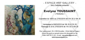Invitation Evelyne TOUSSAINT