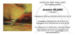 Invitation Jeanne BLANC