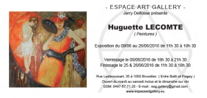 Invitation Huguette LECOMTE