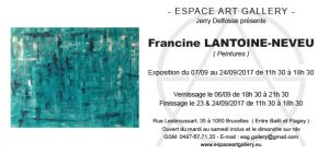 Invitation Francine LANTOINE-NEVEU
