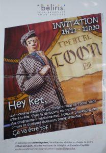 Invitation théâtre TOONE